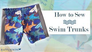 How to Sew Swim Trunks | Tutorial | DIY