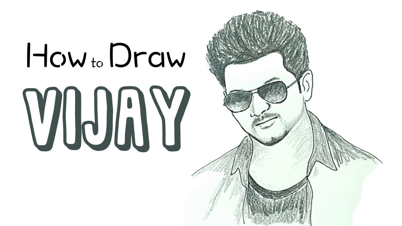 How to draw vijay