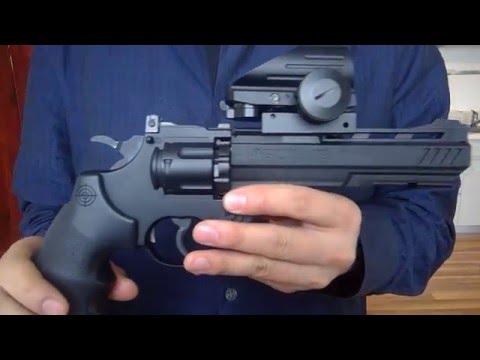 Crosman Vigilante CO2 Revolver + Dagger Defense Red Dot Sight Review