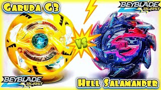 Can HELL SALAMANDER Beat Tournament Banned GARUDA G3? Beyblade Burst Hasbro vs Takara Tomy Battle
