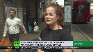 Masks are now mandatory in all public spaces in England