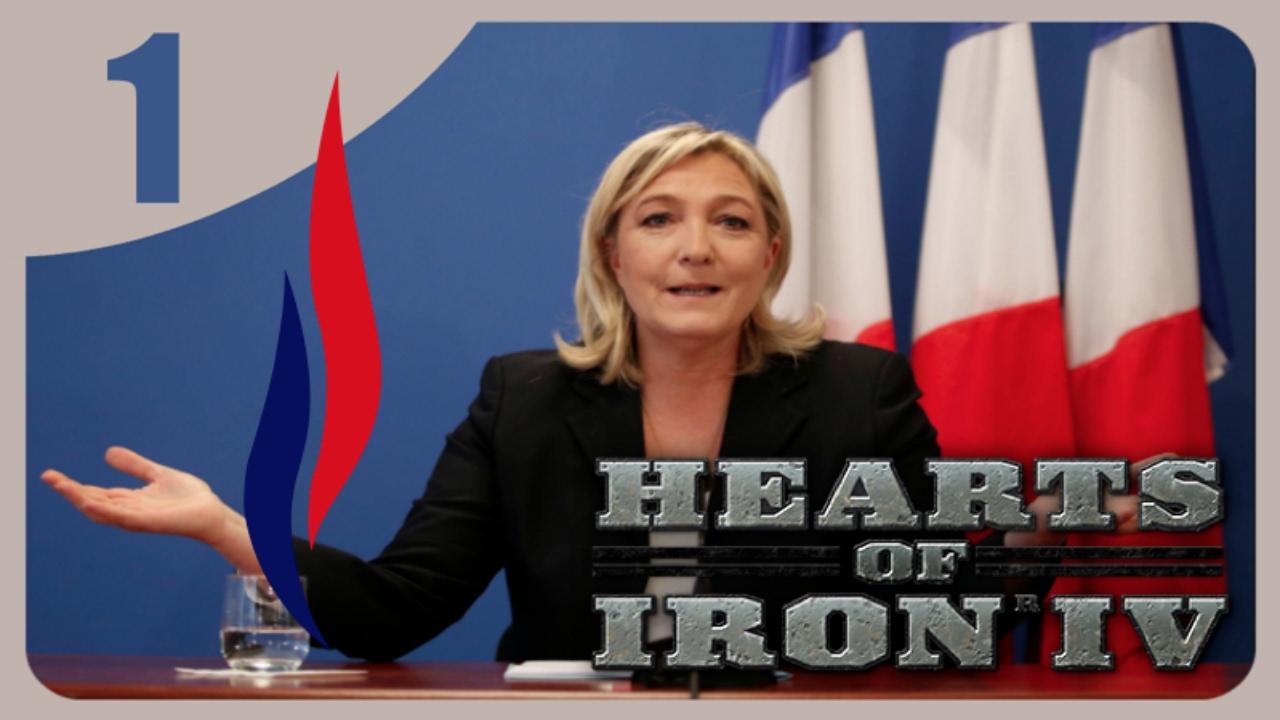HOI4 Millennium Dawn Mod - Le Pen Front National #1 - Propaganda
