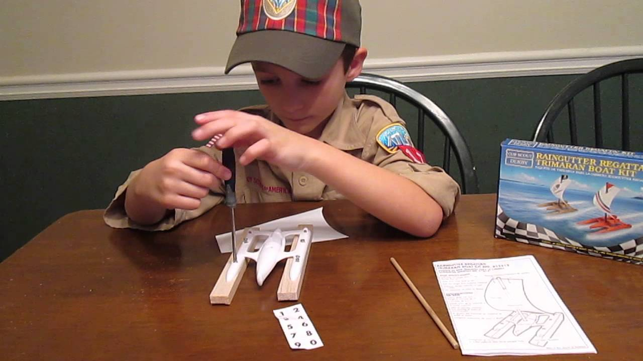How to build the Raingutter Regatta Trimaran Boat Kit - YouTube