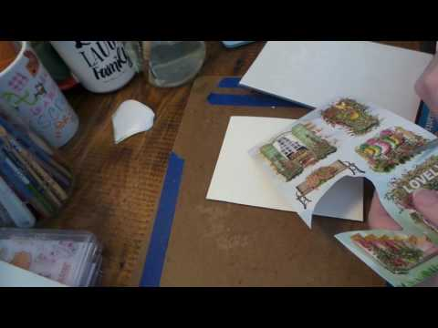 Dollar Tree Craft: HOW TO MAKE PRETTY & EASY CARDS USING DOLLAR TREE STICKERS