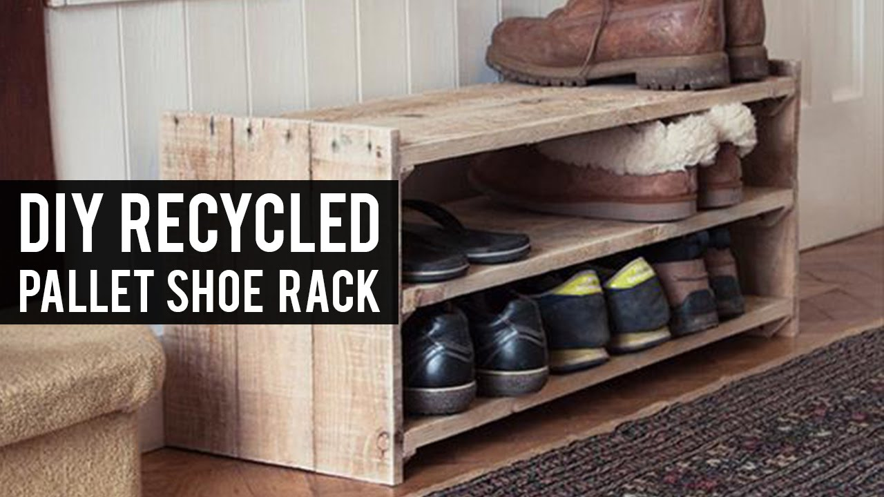 DIY Pallet Shoe Rack   YouTube