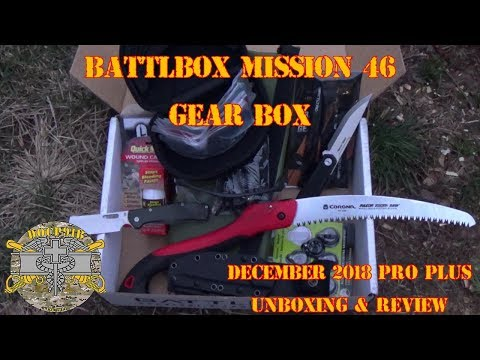 Battlbox (Battle Box) Mission 46 Gear Box - December 2018 - Pro Plus Unboxing and Review