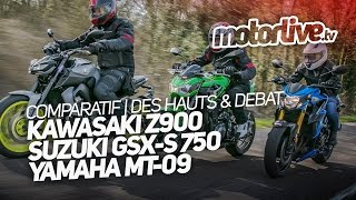 Comparatif Z900 X Gsx-S 750 X Mt-09 | Des Hauts & Debat