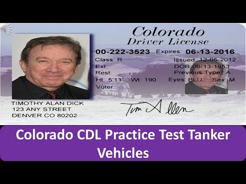 Colorado CDL Practice Test Tanker Vehicles
