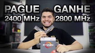 OVERCLOCK FÁCIL MEMÓRIA RAM: 2400 MHz para 2800 MHz com RYZEN sem alterar voltagem (TUTORIAL RÁPIDO)