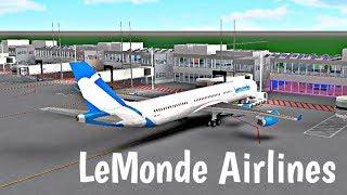 ROBLOX | LeMonde Airlines A340-Flug #2
