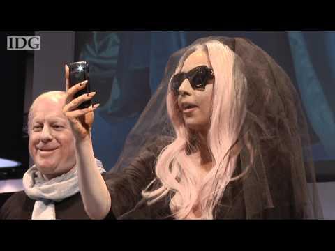 CES 2011: Lady Gaga unveils a Polaroid photo sunglasses, printer and camera