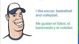 Dialogue 44 - Inglés Spanish - Sports Hobbies - Deportes Pasatiempos