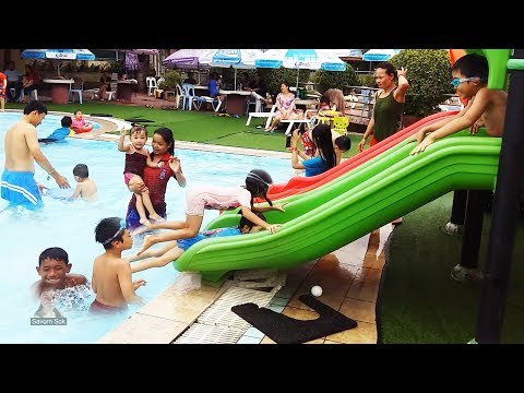 Let's go to swimming together - happy swimming pool in Phnom Penh, Cambodia #02