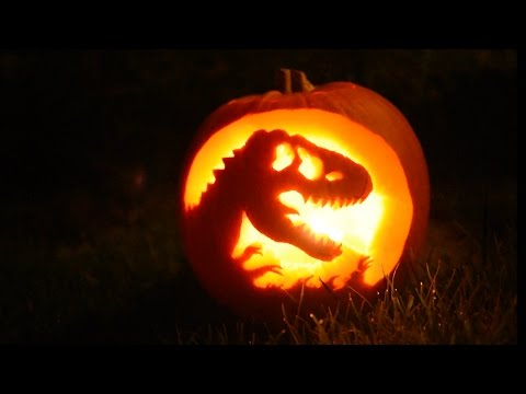 Making A Jurassic Park Pumpkin