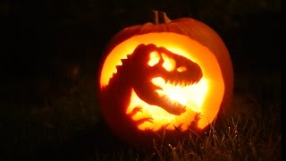 Making A Jurassic Park Pumpkin!