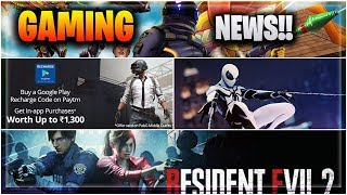 🔥PUBG Paytm Offer, Fortnite 60 FPS, Rogue Agent Beta,Resident Evil 2 Free DLC etc Hindi Gaming News