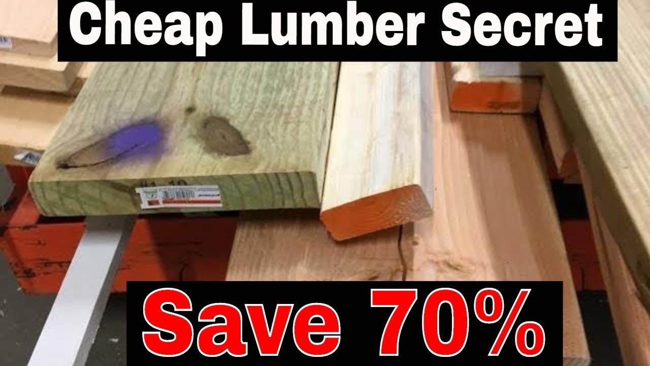 How To Get 70 Off Good Cheap Lumber From Home Depot Lowe S Youtube
