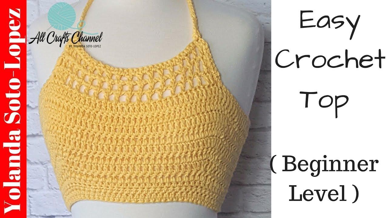 How to crochet top for summer ( crochet halter top ) - YouTube