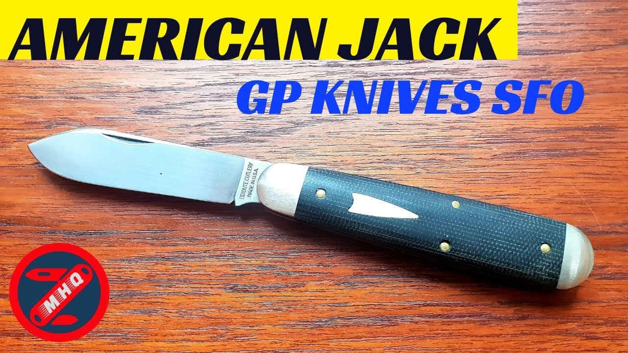 GEC #78 American Jack, Awesome SFO From GP Knives  Black Canvas Micarta  Great Eastern Cutlery Knife