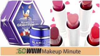 Makeup Minute | GLAM GLOW X SONIC THE HEDGEHOG! + HEART LIPSTICKS FOR VALENTINE