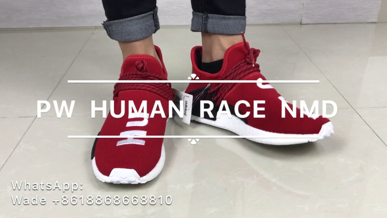 be8fccb009781 Adidas NMD Human Race Scarlet Review And On Foot - YouTube