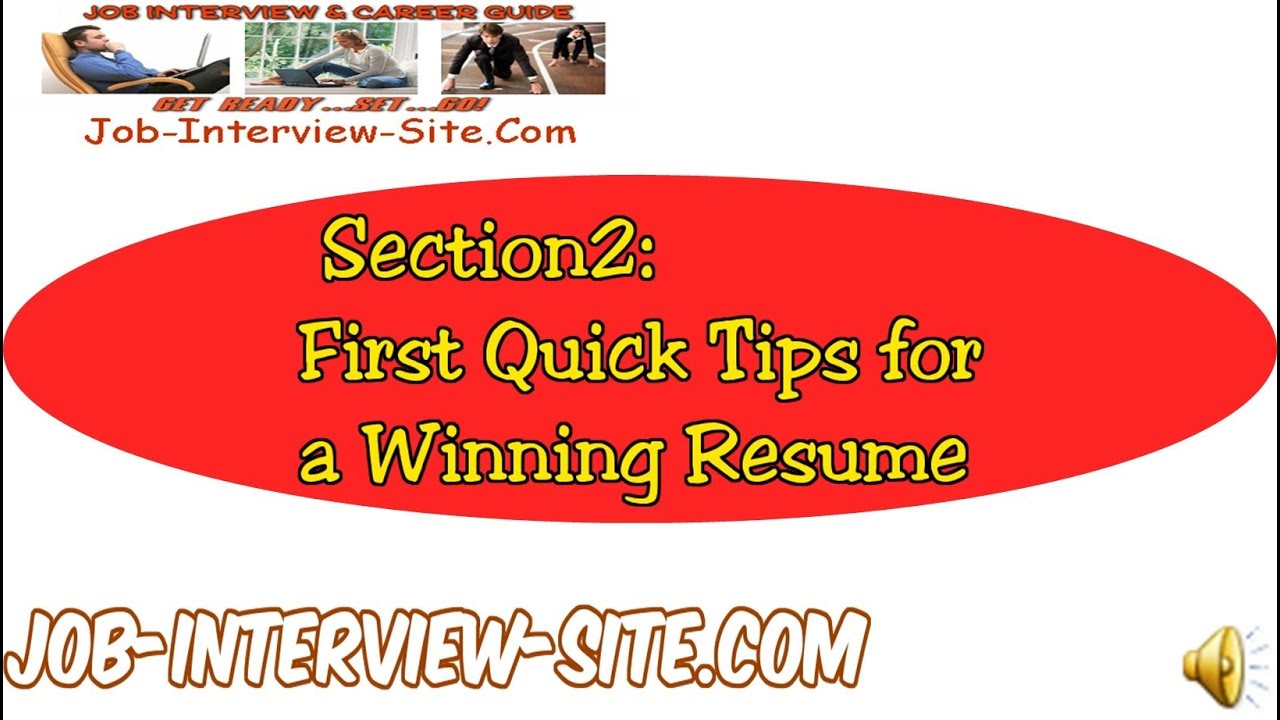 resume tips quick resume writing tips and advice youtube