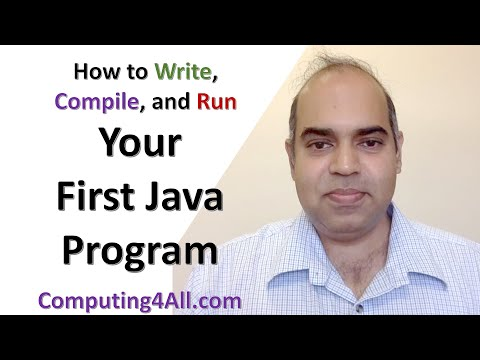 compile-and-run-the-first-java-program:-java-lecture-1
