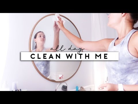 ALL DAY CLEAN + GET ORGANIZED WITH ME | Reese Regan thumbnail