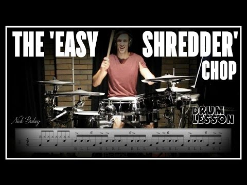 Download The 'Easy Shredder' Gospel Chop - Drum Lesson by Nick Bukey