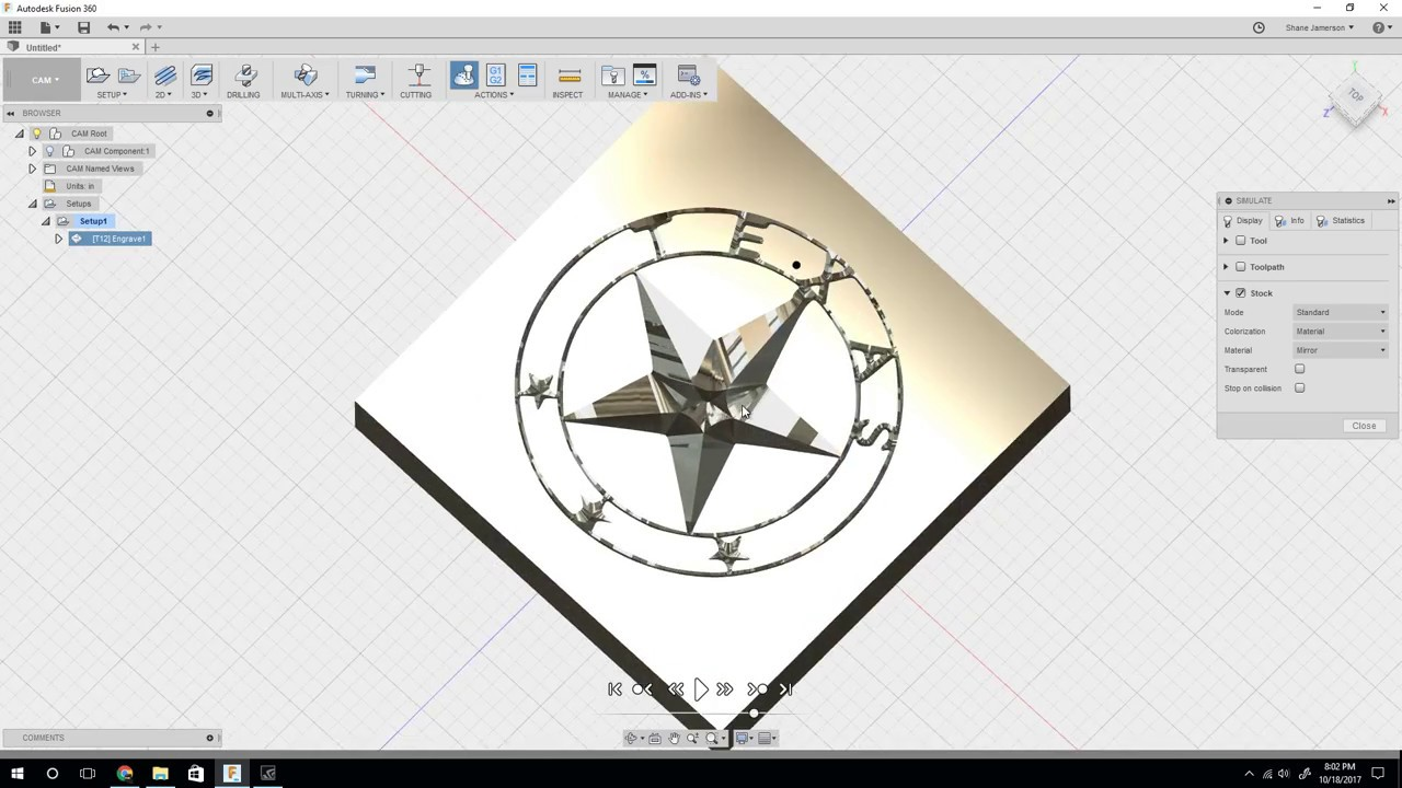 Fusion 360 - Importing SVG and Engraving