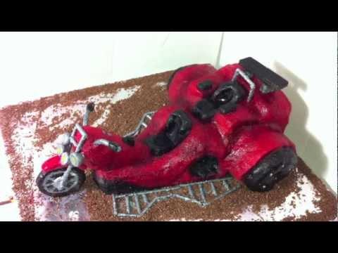 How To Make Red Trike Motorbike Motorcycle Cake Youtube