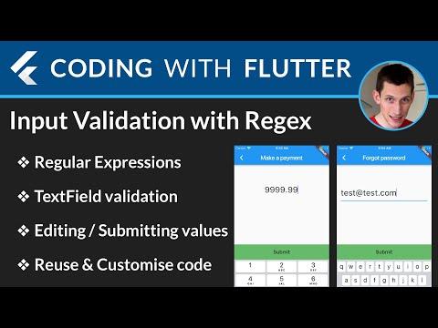 Flutter: Input Validation with RegExp