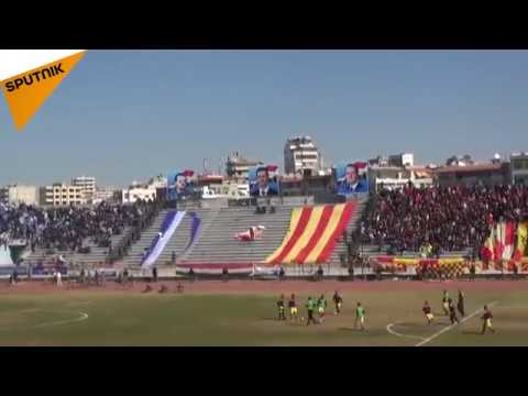 Latakia Football Fans Delight in Derby Game in War-Torn City