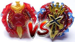 BEYBLADE BURST BATTLE | Xeno Xcalibur VS Xcalius - Takara Tomy VS Hasbro