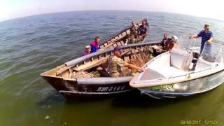 Рейд рыбоохранного патруля и общественников по Кучугурам