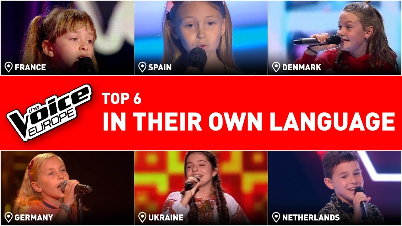 They sung in their own languages in The Voice Kids | TOP 6