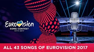 RECAP All the songs of the 2017 Eurovision Song Contest