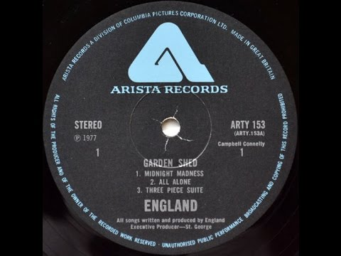England - Garden Shed (Side 2) Very Rare 1977 UK Prog Rock LP £180