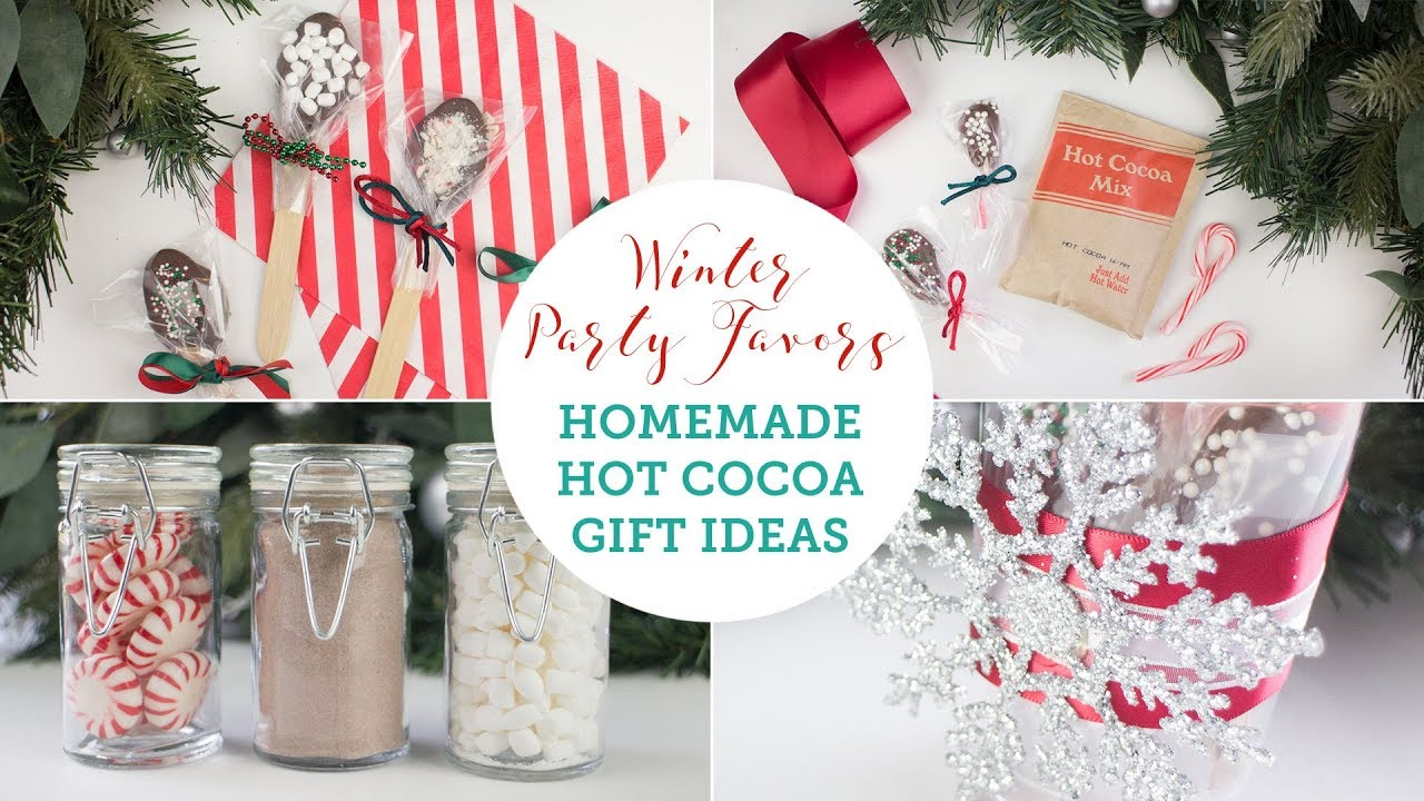 Homemade Hot Chocolate Christmas Gift Ideas | BalsaCircle.com - YouTube