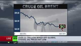 Black Monday: Biggest slide in Chinese stocks since 2007, Brent oil below $44