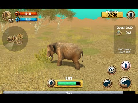 Wild Elephant Simulator 3D  IOS  Android Game Play