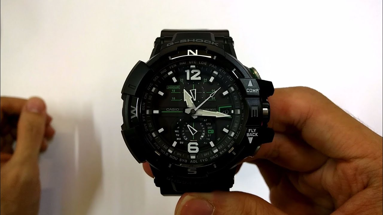 Casio G Shock Gw A1100 1a3dr Quick Unboxing Youtube