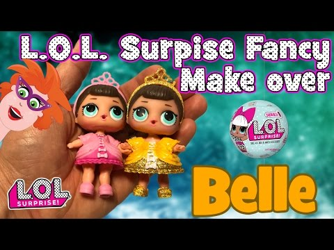 Gamerpapa STRAFWERK !! L.O.L. surprise doll make-over! Van Fancy naar Belle en het beest