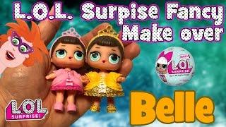 Gamerpapa STRAFWERK !! L.O.L. surprise doll make-over! Van Fancy naar Belle en het beest