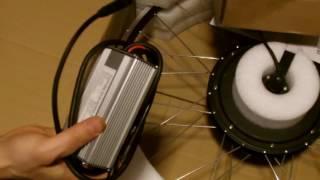 Обзор оригинальной упаковки переднего колеса-мотора 1000w  и краткое описание компонентов  MotorLife