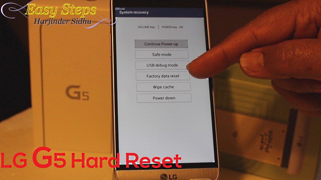 LG G5 Hard Reset   Factory Setting   Original Setting