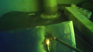 Сварка тонкого металла 1мм. электродами 3,2мм. и 2.6мм. Welding of thin metal 1mm .(Сварка тонкого металла встык, электродами., 2015-09-26T10:14:32.000Z)