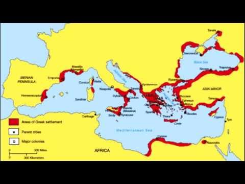 Greek territories - Archaic period (800 BC - 480 BC).