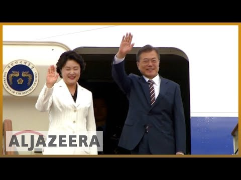 🇰🇷 🇺🇸 S Korean president arrives in US amid fears for Kim-Tr