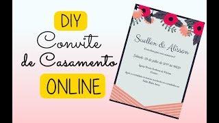 DIY Convite de Casamento em Site Online #DIARIODEUMANOIVA
